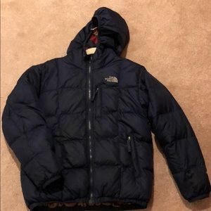 North face navy down jacket